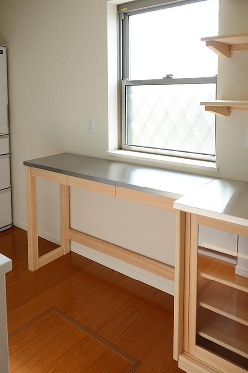 ひのき無垢 ステンレス 食器棚3