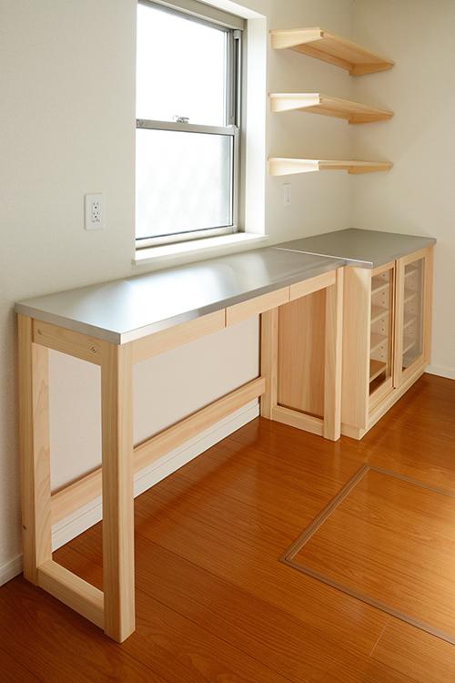 ひのき無垢 ステンレス 食器棚5