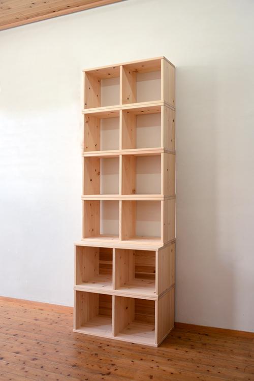 檜無垢 ヒノキクラフト カラーボックス7
