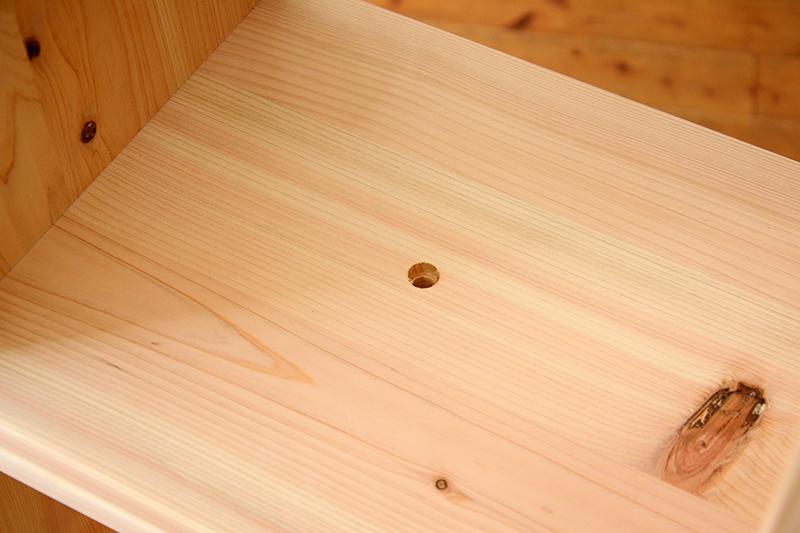 檜無垢 ヒノキクラフト カラーボックス9