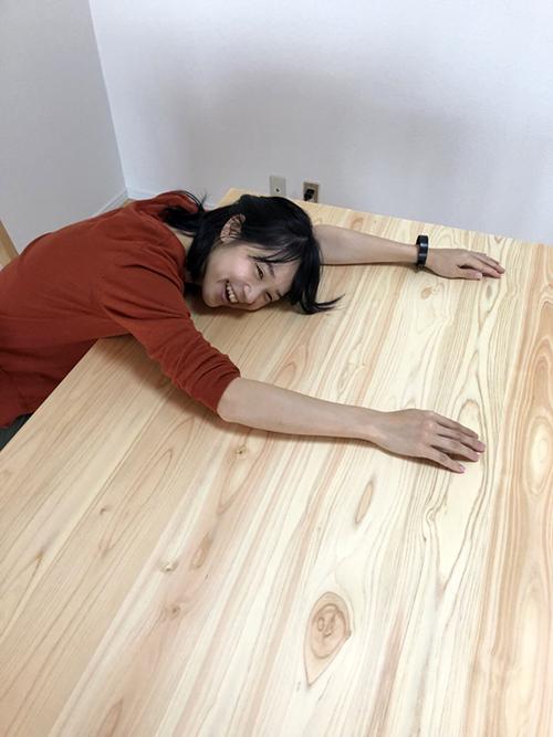 ひのき家具 ダイニングテーブル2