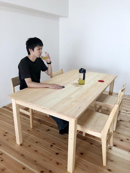 ひのき家具 ダイニングテーブル3