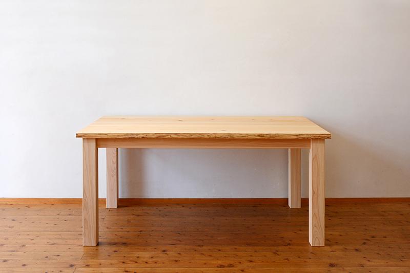 ひのき無垢 耳付きテーブル ヒノキクラフト1