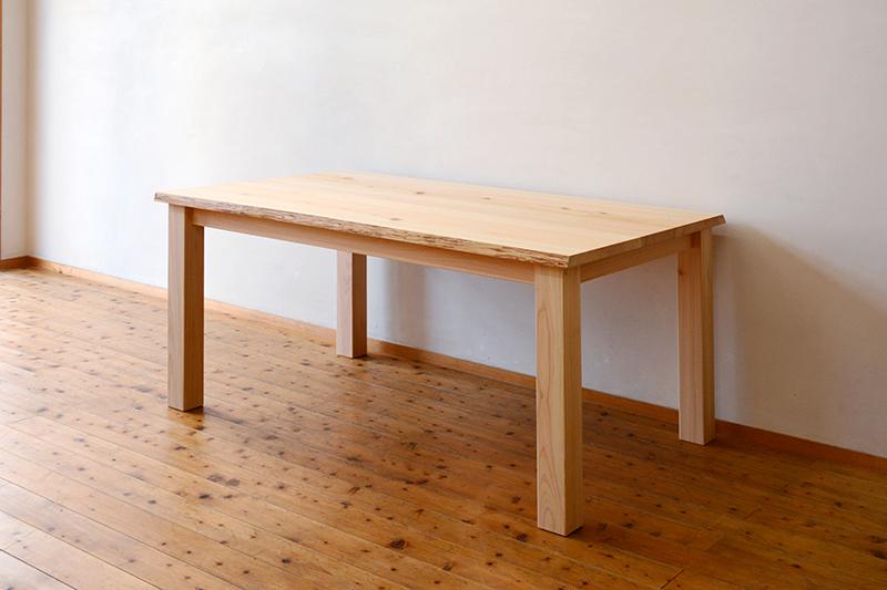 ひのき無垢 耳付きテーブル ヒノキクラフト6