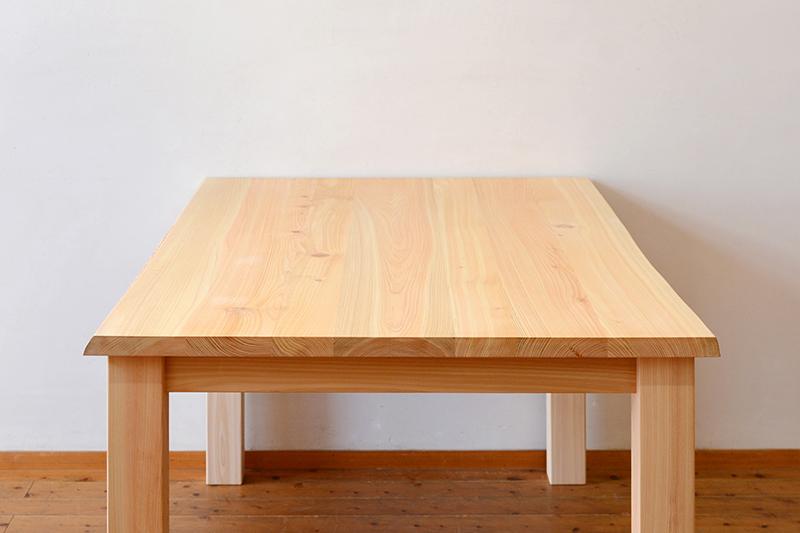 ひのき無垢 耳付きテーブル ヒノキクラフト3