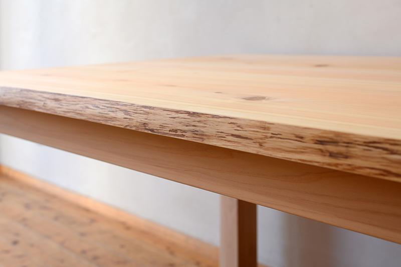 ひのき無垢 耳付きテーブル ヒノキクラフト2