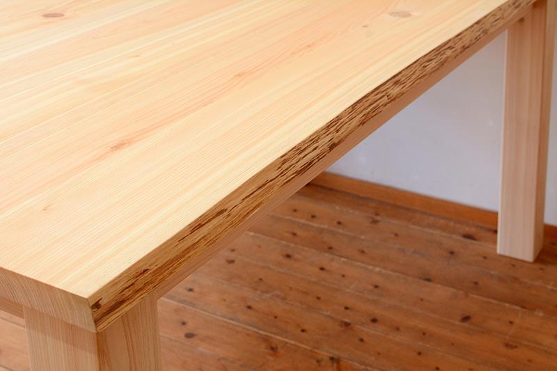 ひのき無垢 耳付きテーブル ヒノキクラフト5