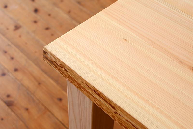 ひのき無垢 耳付きテーブル ヒノキクラフト
