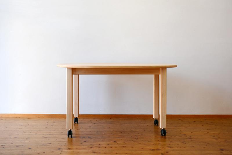 ひのき無垢 エッグテーブル1