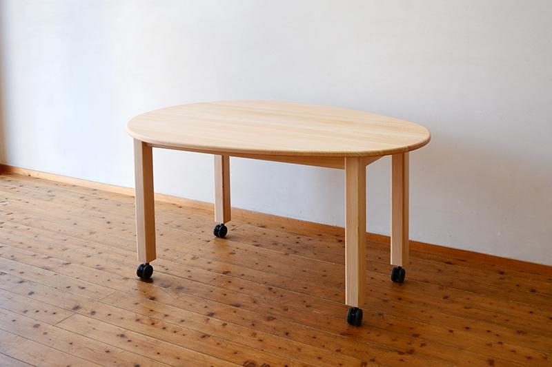 ひのき無垢 エッグテーブル7