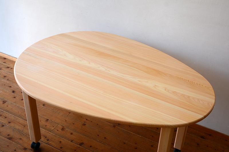 ひのき無垢 エッグテーブル2