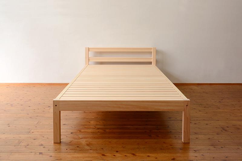 総檜のシングルベッド1