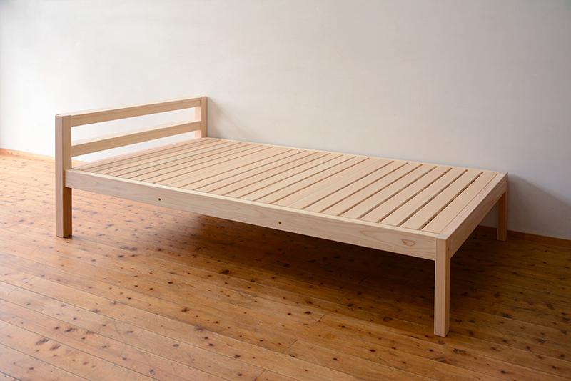 総檜のシングルベッド6