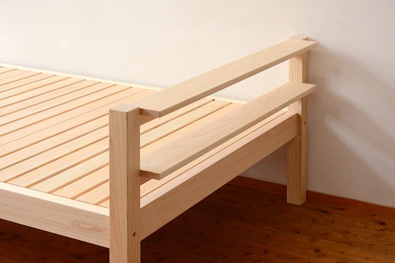 総檜のシングルベッド2