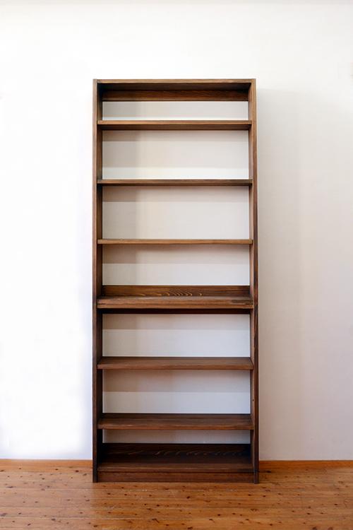 ひのき家具 ブラウン塗装 本棚1