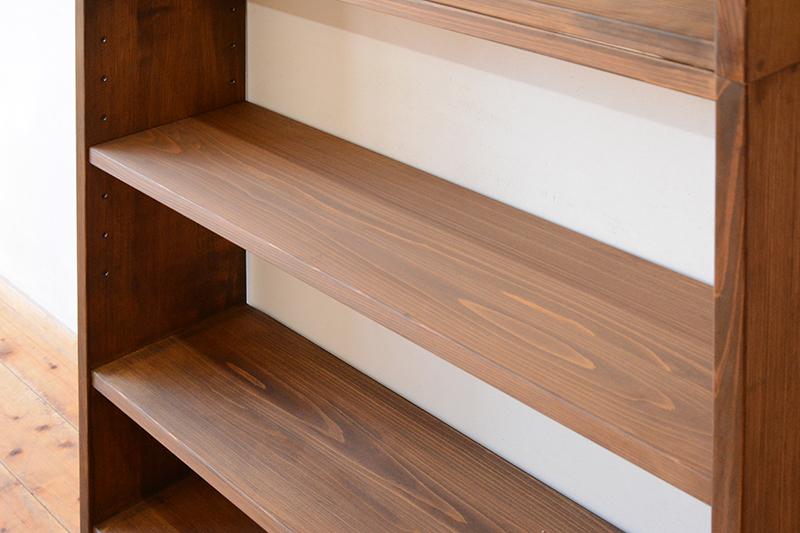 ひのき家具 ブラウン塗装 本棚2