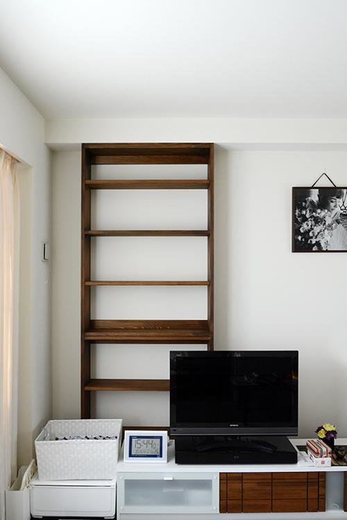 ひのき家具 ブラウン塗装 本棚4