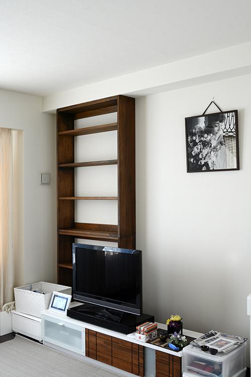 ひのき家具 ブラウン塗装 本棚5