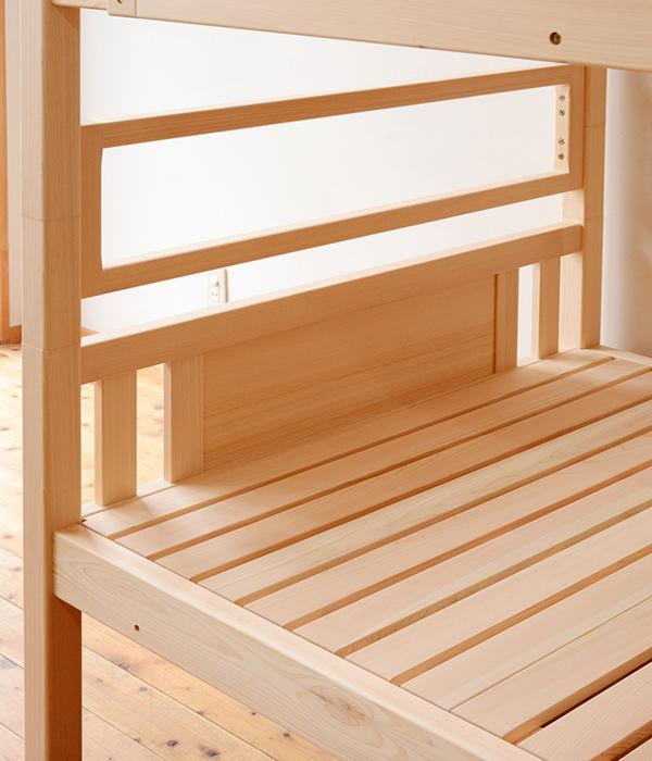 ひのき無垢 2段ベッド3