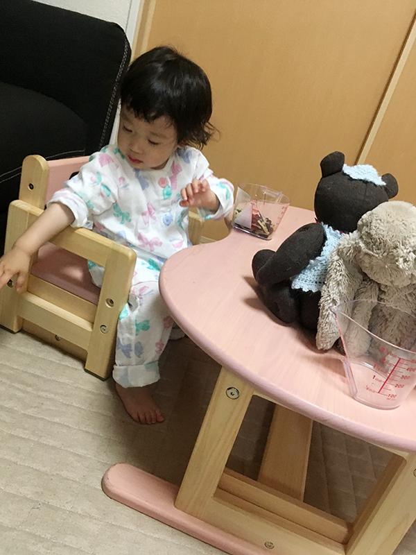 ヒノキクラフト カラービーンズ 幼児家具2