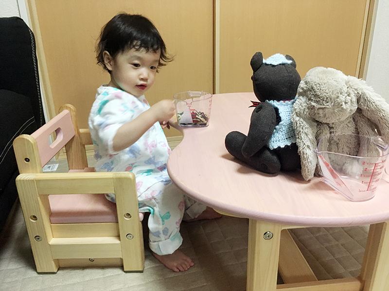 ヒノキクラフト カラービーンズ 幼児家具1
