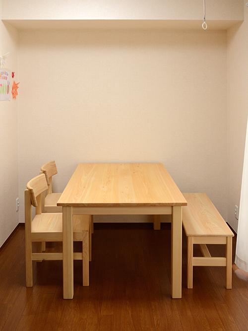 ヒノキクラフト お届け テーブル1