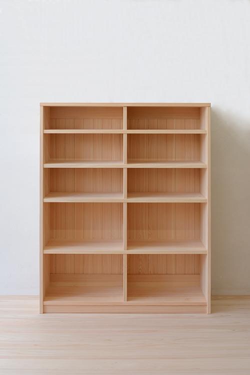 ヒノキクラフト 総檜無垢の書棚1