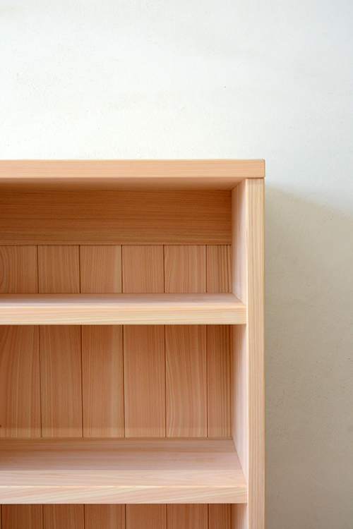 ヒノキクラフト 総檜無垢の書棚2