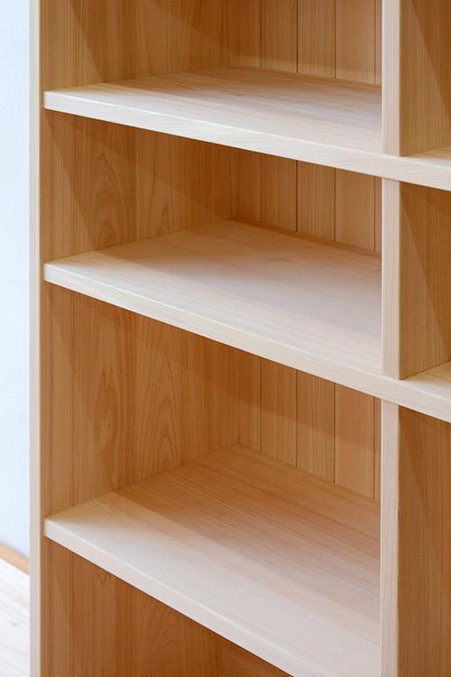 ヒノキクラフト 総檜無垢の書棚3