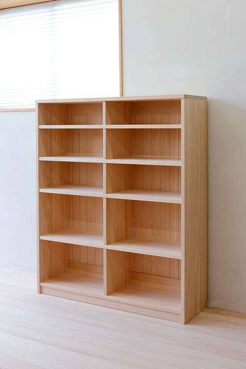 ヒノキクラフト 総檜無垢の書棚4