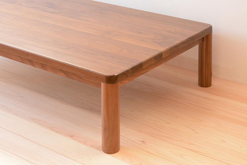 ヒノキクラフト ウォールナットの座卓4