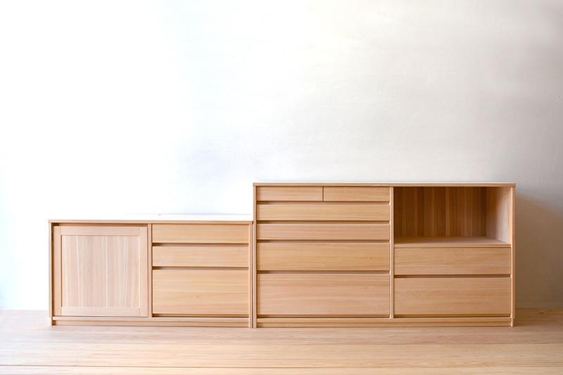 ヒノキクラフト オーダー家具 リビングボード1