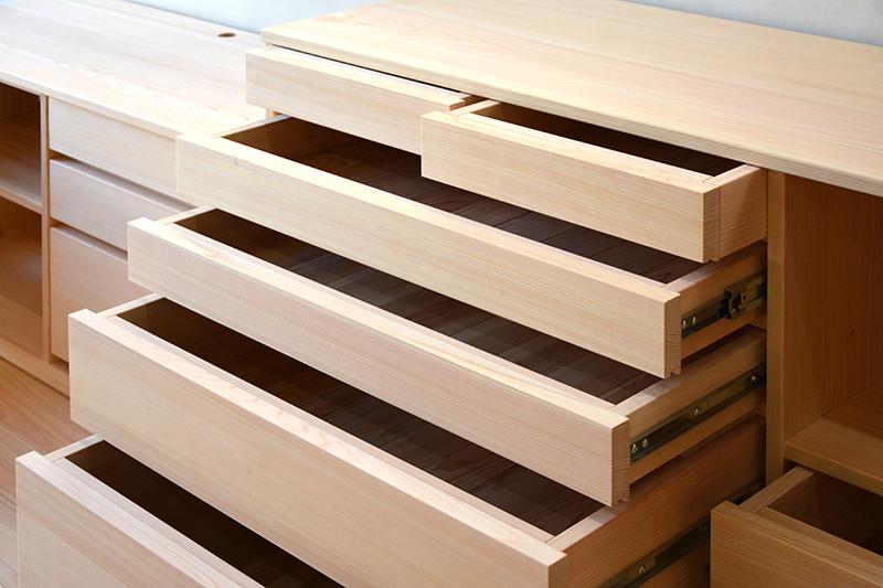 ヒノキクラフト オーダー家具 リビングボード2
