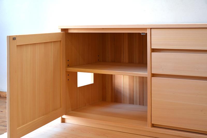 ヒノキクラフト オーダー家具 リビングボード3