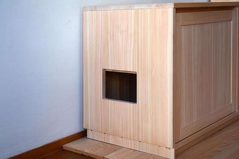 ヒノキクラフト オーダー家具 リビングボード4