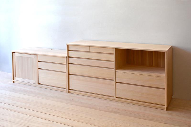 ヒノキクラフト オーダー家具 リビングボード5