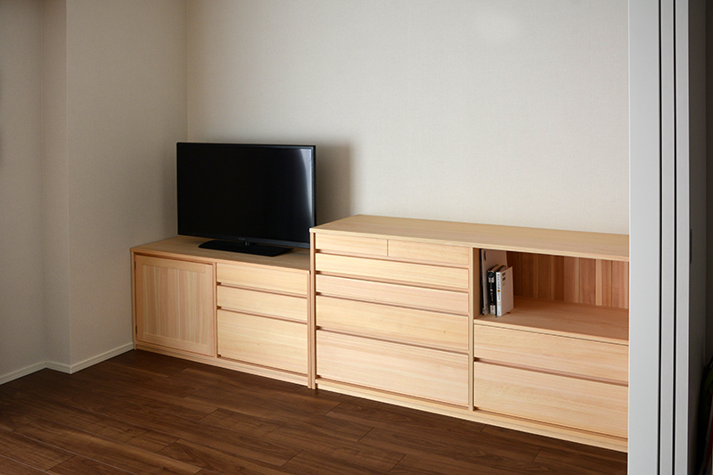 ヒノキクラフト オーダー家具 リビングボード9