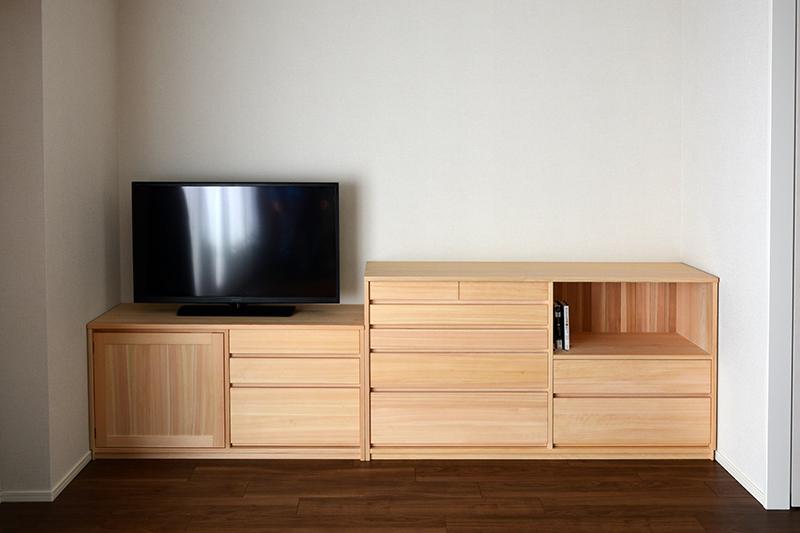 ヒノキクラフト オーダー家具 リビングボード10