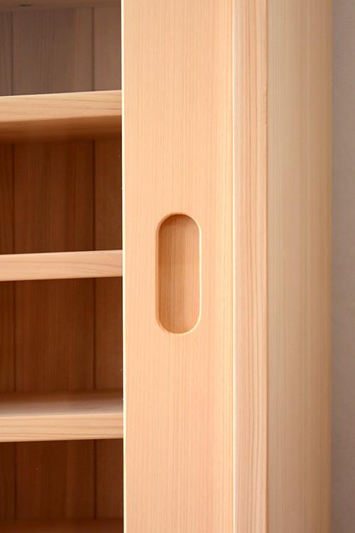 ヒノキクラフト 引き戸食器棚3