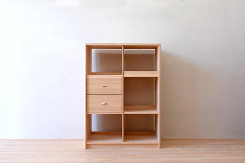 ヒノキクラフト キッチン収納棚1