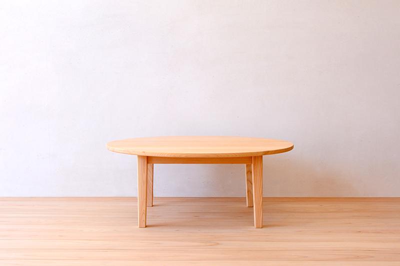 ヒノキクラフト エッグテーブル1