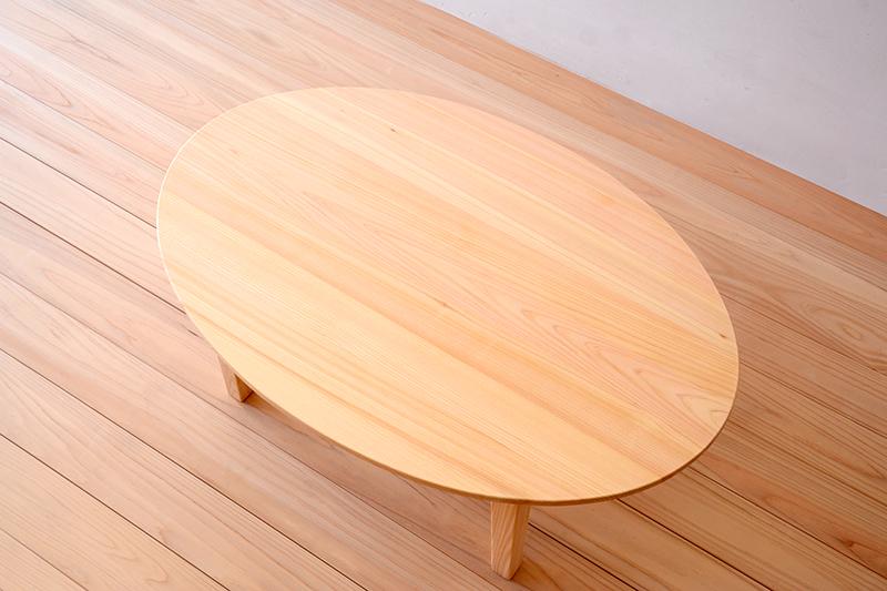 ヒノキクラフト エッグテーブル2