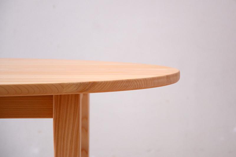 ヒノキクラフト エッグテーブル3