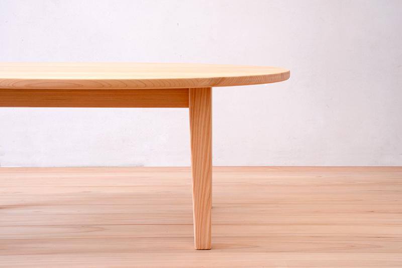 ヒノキクラフト エッグテーブル4