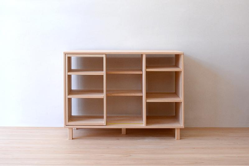 ヒノキクラフト スライド書棚1