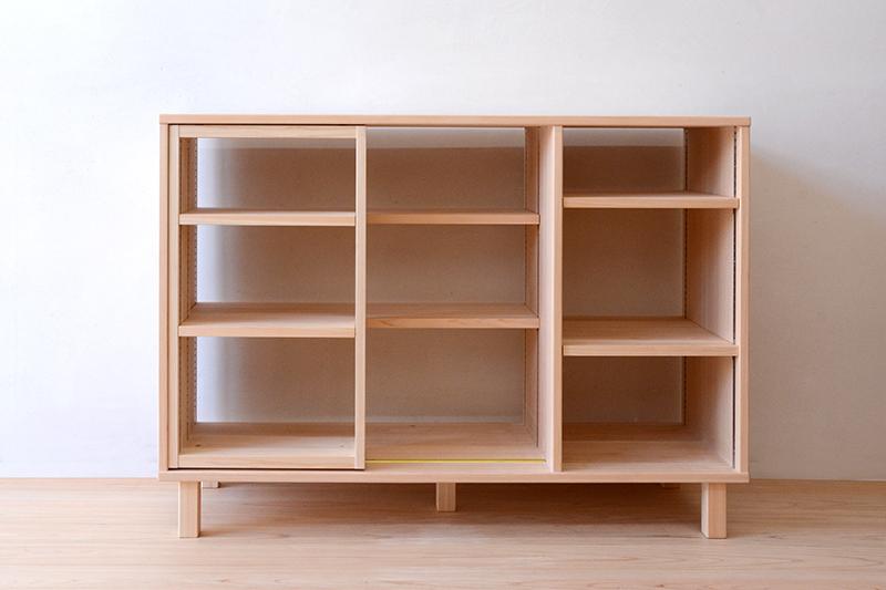 ヒノキクラフト スライド書棚3