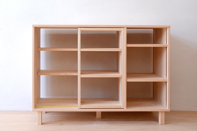 ヒノキクラフト スライド書棚4