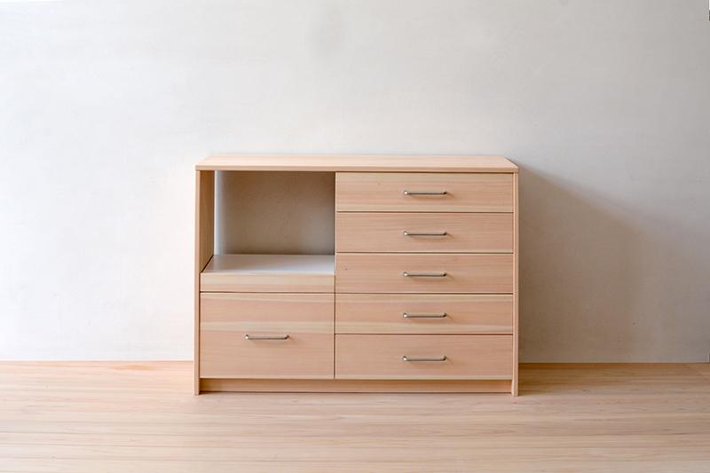 ヒノキクラフト オーダー家具 食器棚1