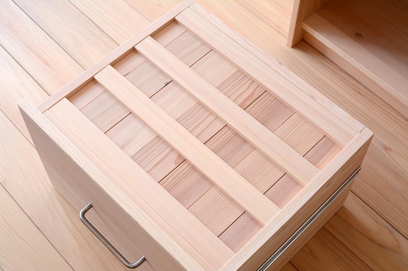 ヒノキクラフト オーダー家具 食器棚6