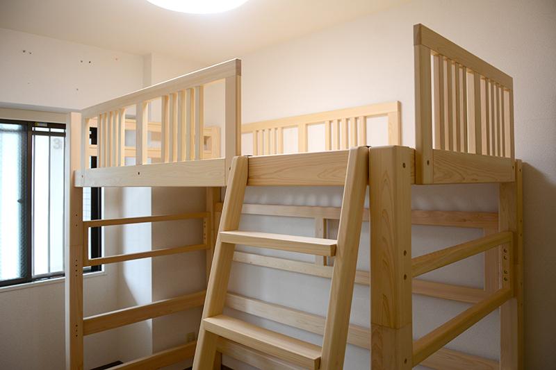 2段ベッド ヒノキクラフト3